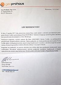 Szkolenie w Warszawie, grudzień 2017